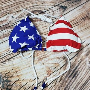 Venus American Flag Bikini Swimsuit Top C D L